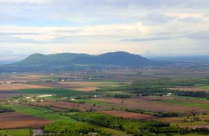 Landscape patchwork in the Montérégie region in Montreal, Canada