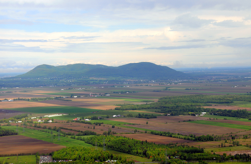 Landscape patchwork in the Montérégie region in Montreal, Canada
